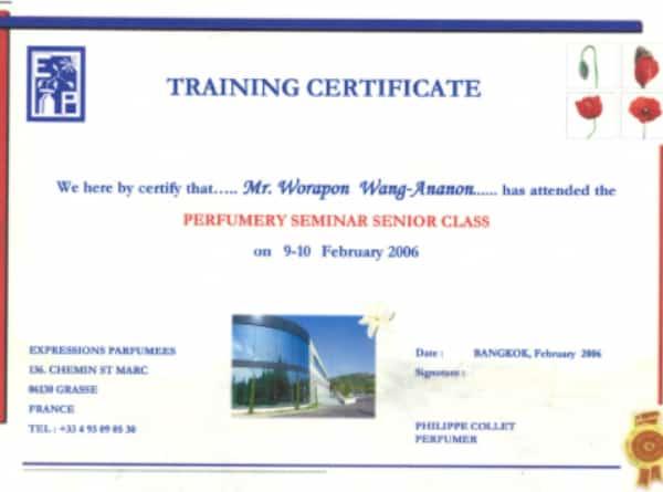 2Perfumery Certificates