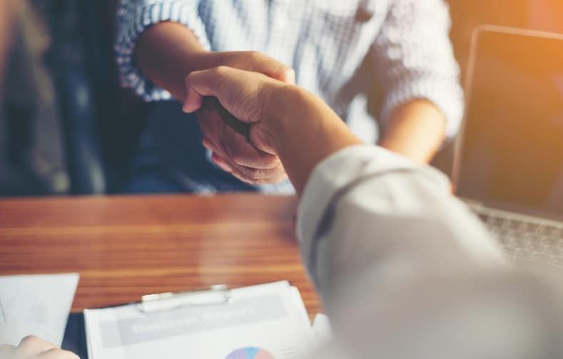 business people handshake greeting deal work
